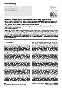 Robust mask-constrained linear array synthesis through an interval ...