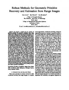 Robust Methods for Geometric Primitive Recovery and ... - CiteSeerX