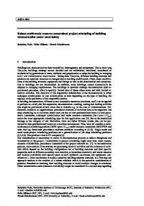 Robust multi-mode resource constrained project scheduling of ... - KIT