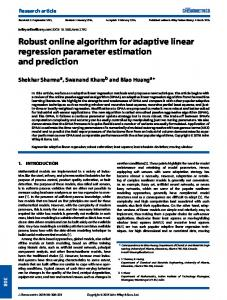Robust online algorithm for adaptive linear ... - Wiley Online Library