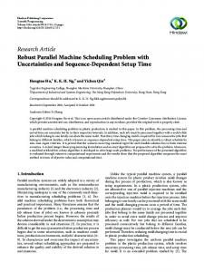 Robust Parallel Machine Scheduling Problem with Uncertainties and ...