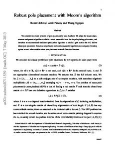 Robust pole placement with Moore's algorithm - arXiv
