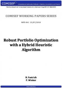 Robust Portfolio Optimization with a Hybrid Heuristic ... - COMISEF