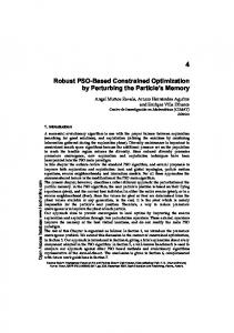 Robust PSO-Based Constrained Optimization by ... - Cinvestav