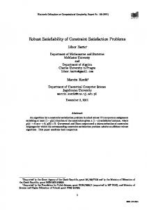 Robust Satisfiability of Constraint Satisfaction Problems - Electronic