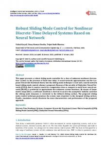 Robust Sliding Mode Control for Nonlinear Discrete-Time Delayed