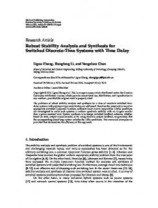 Robust Stability Analysis and Synthesis for