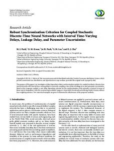Robust Synchronization Criterion for Coupled Stochastic Discrete ...