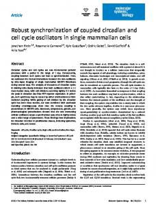 Robust synchronization of coupled circadian and cell cycle oscillators ...