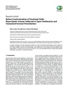 Robust Synchronization of Fractional-Order Hyperchaotic Systems ...