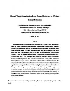 Robust Target Localization from Binary Decisions ... - Semantic Scholar