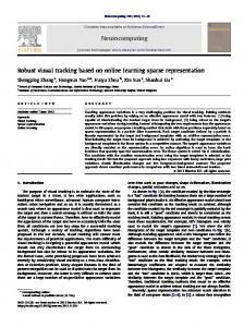 Robust visual tracking based on online learning sparse representation