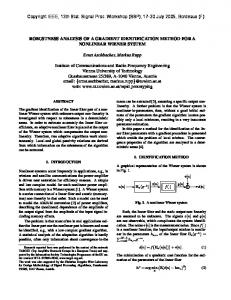 Robustness Analysis of a Gradient Identification Method for a ...