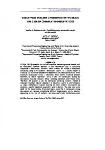 robustness analysis of geodetic networks in the case of ... - Scielo.br