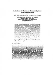 Robustness Evaluation of Biometric Systems under Spoof Attacks