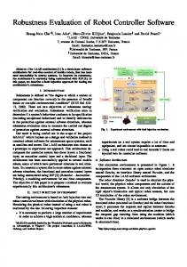 Robustness Evaluation of Robot Controller Software - LAAS