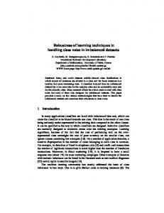 Robustness of learning algorithms in handling noise in imbalanced ...