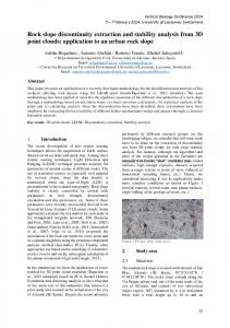 Rock slope discontinuity extraction and stability analysis ... - CiteSeerX