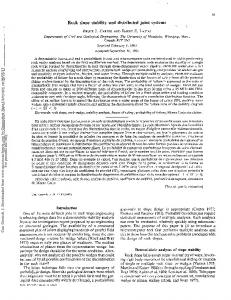 Rock slope stability and distributed joint systems