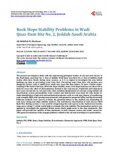 Rock Slope Stability Problems Paper (Saudi Arabia).