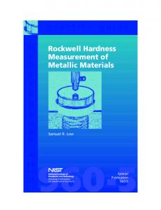Rockwell Hardness Test - Academic Csuohio