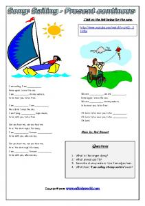 Rod Stewart song worksheet - ESL Kids World