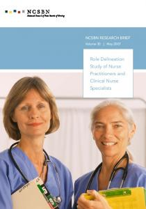 Role Delineation Study of Nurse Practitioners and Clinical Nurse ...