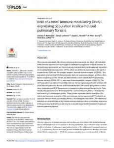 Role of a novel immune modulating DDR2