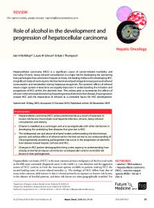 Role of alcohol in the development and progression ... - Future Medicine