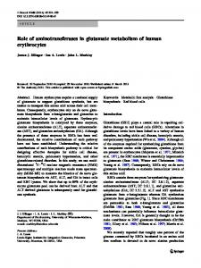 Role of aminotransferases in glutamate metabolism ... - BioMedSearch