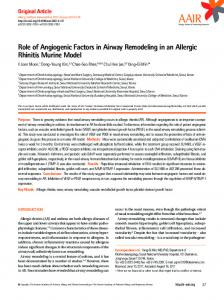 Role of Angiogenic Factors in Airway Remodeling in an Allergic ...