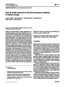 Role of anode material on the electrochemical oxidation of methyl