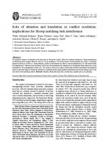 Role of attention and translation in conflict resolution ...