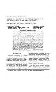 role of ca++ gradient in functional dilatation in the ... - Semantic Scholar