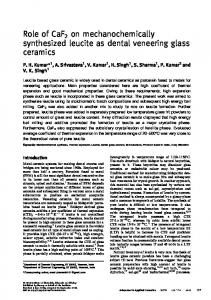 Role of CaF2 on mechanochemically synthesized leucite as dental ...