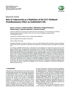 Role of Calprotectin as a Modulator of the IL27-Mediated ...