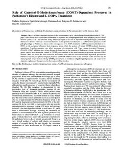 Role of Catechol-O-Methyltransferase (COMT ... - IngentaConnect