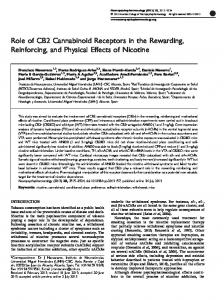Role of CB2 Cannabinoid Receptors in the Rewarding ... - Nature
