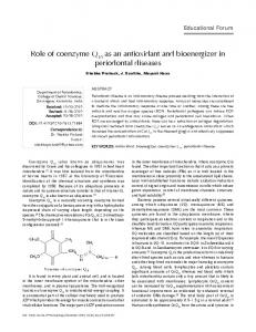 Role of coenzyme Q as an antioxidant and ... - Semantic Scholar