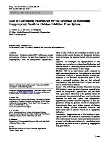 Role of Community Pharmacies for the Detection of ... - Springer Link