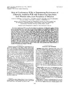Role of Confirmatory PCRs in Determining Performance of
