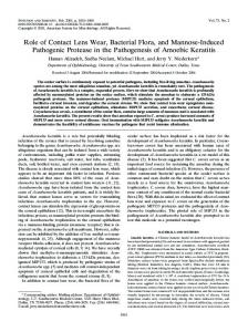 Role of Contact Lens Wear, Bacterial Flora, and Mannose-Induced ...