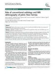 Role of conventional radiology and MRi defecography ... - Springer Link