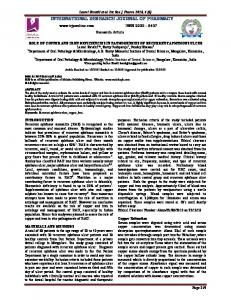 role of copper and iron deficiencies in pathogenesis of recurrent ...