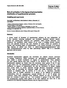 Role of cyclization in the degree-of-polymerization ... - Springer Link