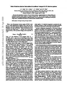 Role of electron-electron interactions in nonlinear transport in 2D ...