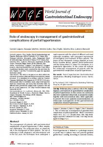 Role of endoscopy in management of gastrointestinal complications of ...