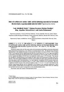 Role of erythrocyte surface sialic acid in inducing anaemia in