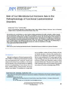 Role of Gut Microbiota-Gut Hormone Axis in the Pathophysiology of ...