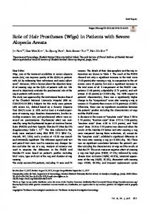 Role of Hair Prostheses (Wigs) in Patients with ... - KoreaMed Synapse